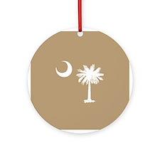 SC Palmetto Moon Ornament (Round)