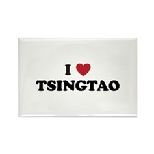 I Love Tsingtao Rectangle Magnet