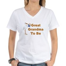 Stork Great Grandma To Be Shirt