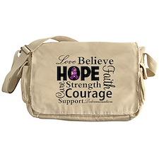 Inspire Hope Lupus Awareness Messenger Bag