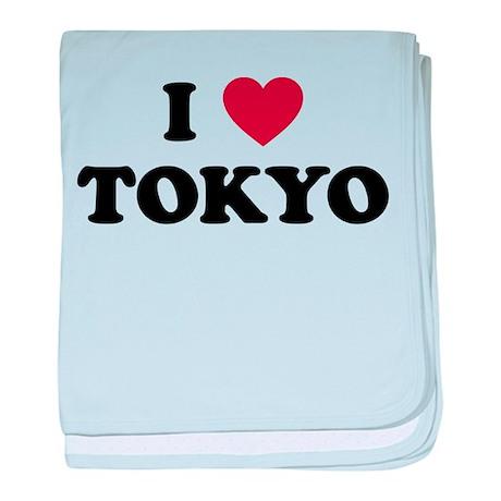 I Love Tokyo baby blanket