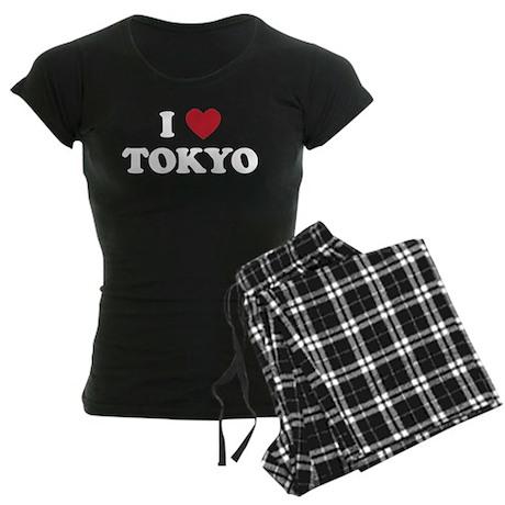 I Love Tokyo Women's Dark Pajamas