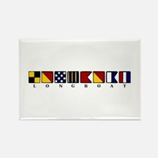 Nautical Longboat Rectangle Magnet