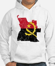 Angola Flag And Map Hoodie