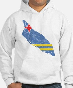 Aruba Flag And Map Hoodie