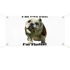 Im Not Fat Bulldog Banner