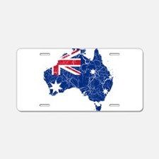Australia Flag And Map Aluminum License Plate