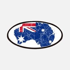 Australia Flag And Map Patches