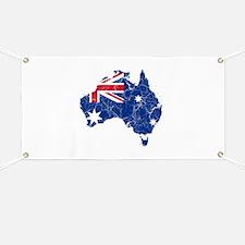 Australia Flag And Map Banner