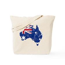 Australia Flag And Map Tote Bag