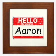 Hello My name is Aaron Framed Tile