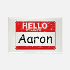 Hello My name is Aaron Rectangle Magnet