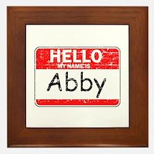 Hello My name is Abby Framed Tile