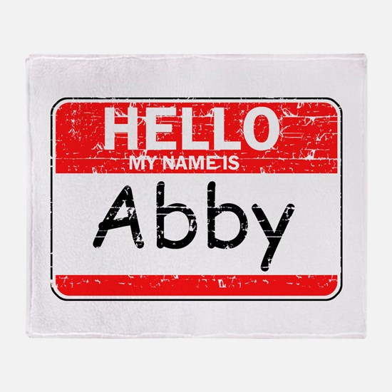 Hello My name is Abby Throw Blanket