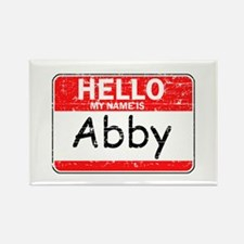 Hello My name is Abby Rectangle Magnet