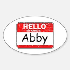 Hello My name is Abby Sticker (Oval)
