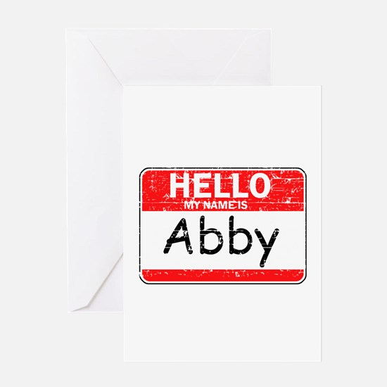 Hello My name is Abby Greeting Card