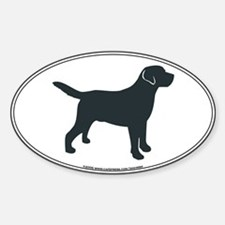 Labrador Retriever Silhouette Oval Decal