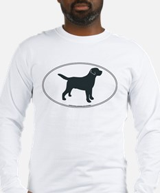 Labrador Retriever Silhouette Long Sleeve T-Shirt