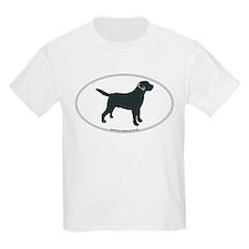 Labrador Retriever Silhouette Kids T-Shirt