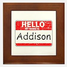 Hello My name is Addison Framed Tile