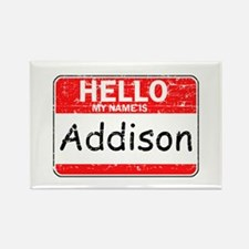 Hello My name is Addison Rectangle Magnet