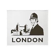 Retro London Throw Blanket