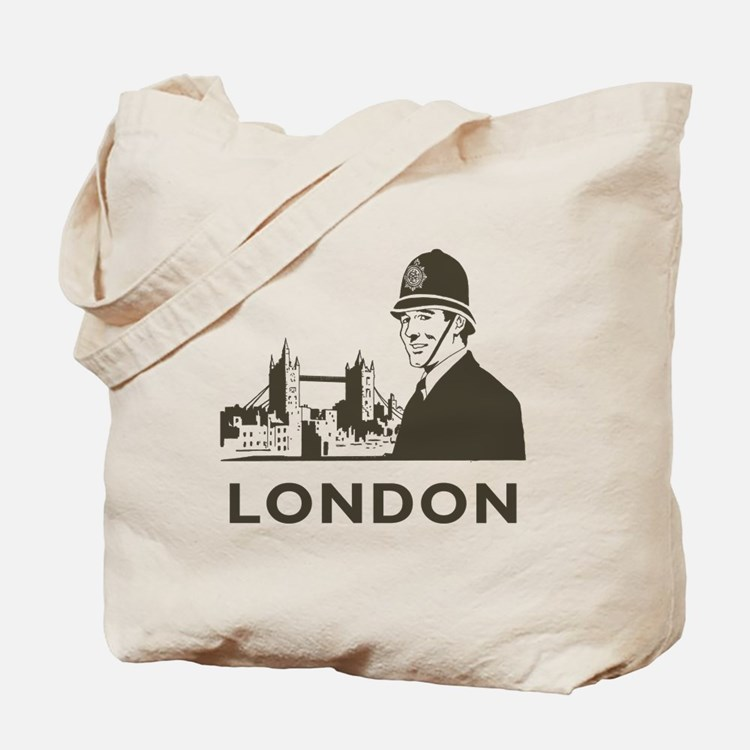 Retro London Tote Bag