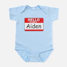 Hello My name is Aiden Onesie