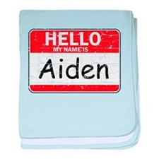 Hello My name is Aiden baby blanket