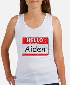 Hello My name is Aiden Women's Tank Top