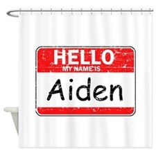 Hello My name is Aiden Shower Curtain
