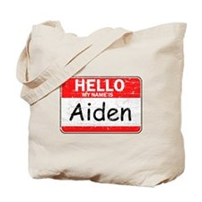 Hello My name is Aiden Tote Bag
