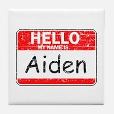 Hello My name is Aiden Tile Coaster