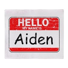 Hello My name is Aiden Throw Blanket