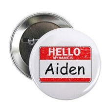 "Hello My name is Aiden 2.25"" Button"