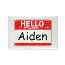 Hello My name is Aiden Rectangle Magnet