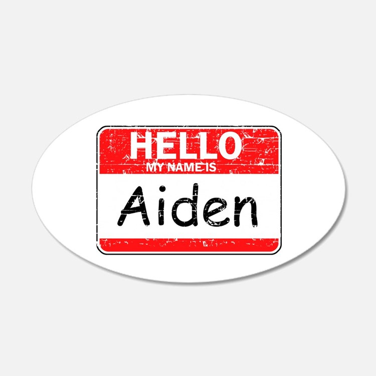 Hello My name is Aiden Wall Decal