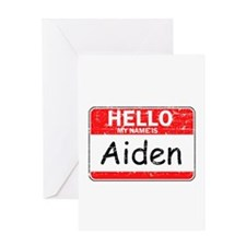 Hello My name is Aiden Greeting Card