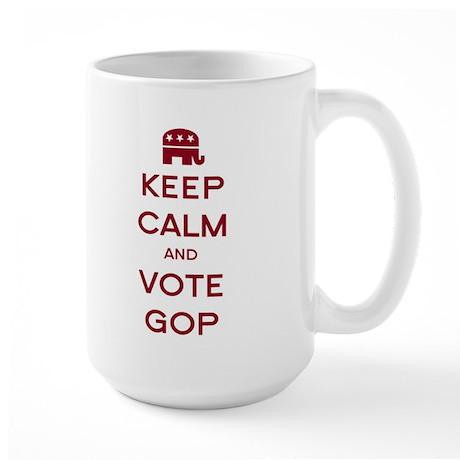 Keep Calm and Vote GOP Large Mug