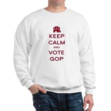 Keep Calm and Vote GOP Sweatshirt