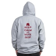 Keep Calm and Vote GOP Zip Hoodie