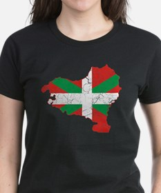 Basque Flag And Map Tee