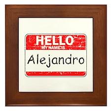 Hello My name is Alejandro Framed Tile