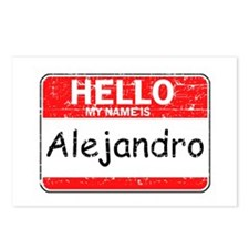Hello My name is Alejandro Postcards (Package of 8