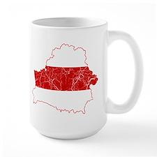 Belarus Flag And Map Mug