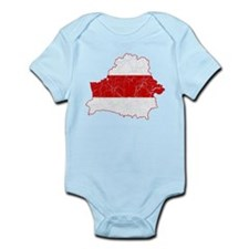 Belarus Flag And Map Infant Bodysuit
