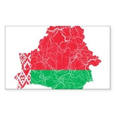 Belarus Flag And Map Decal
