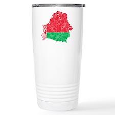 Belarus Flag And Map Travel Mug