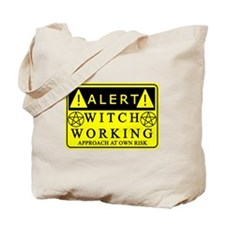 caution-witchwork-fixed1.png Tote Bag